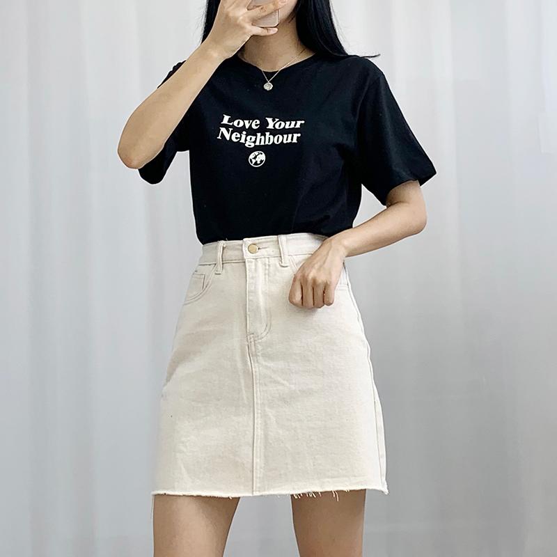 반팔 티셔츠 모델 착용 이미지-S1L17