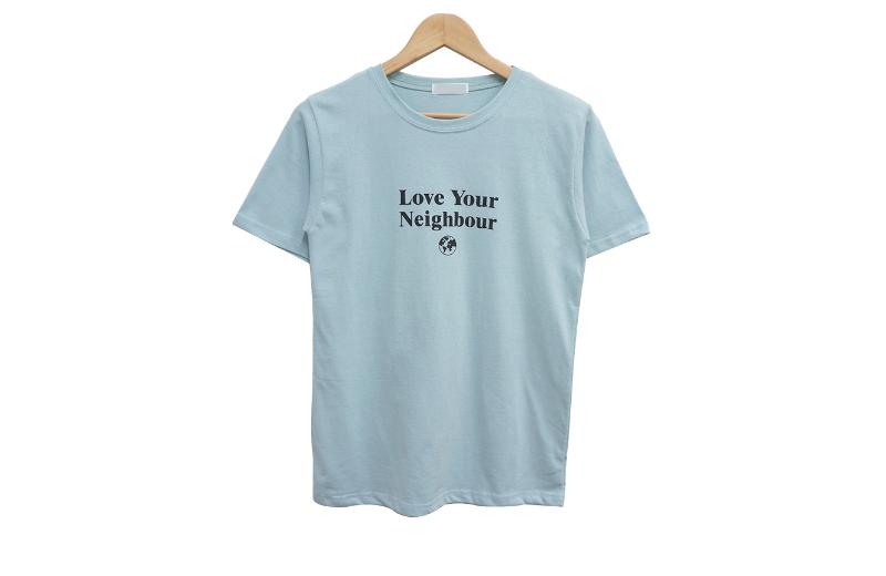 반팔 티셔츠 라벤더 색상 이미지-S1L10