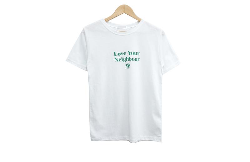 반팔 티셔츠 화이트 색상 이미지-S1L6