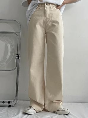 Indie Yellow Cotton Wide Pants
