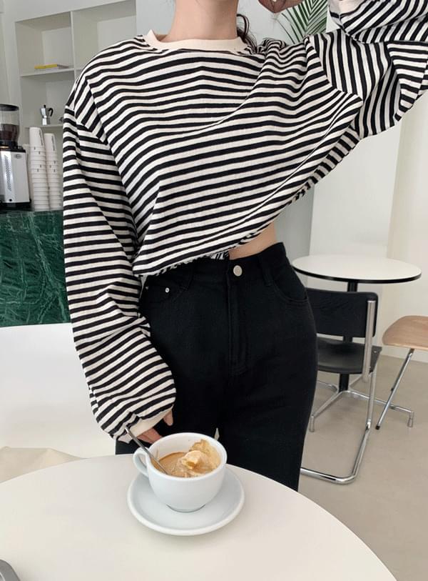 Balloon Striped Sweatshirt