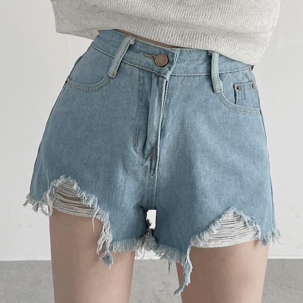 Basic Damage Short Pants