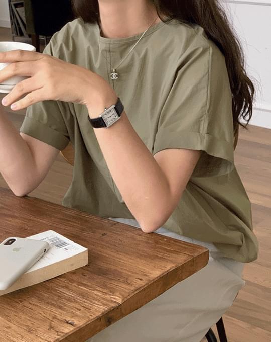 Muden slit cotton blouse - 3 color