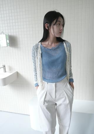 pure lace cardigan