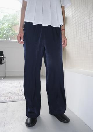 glam silky banding pants