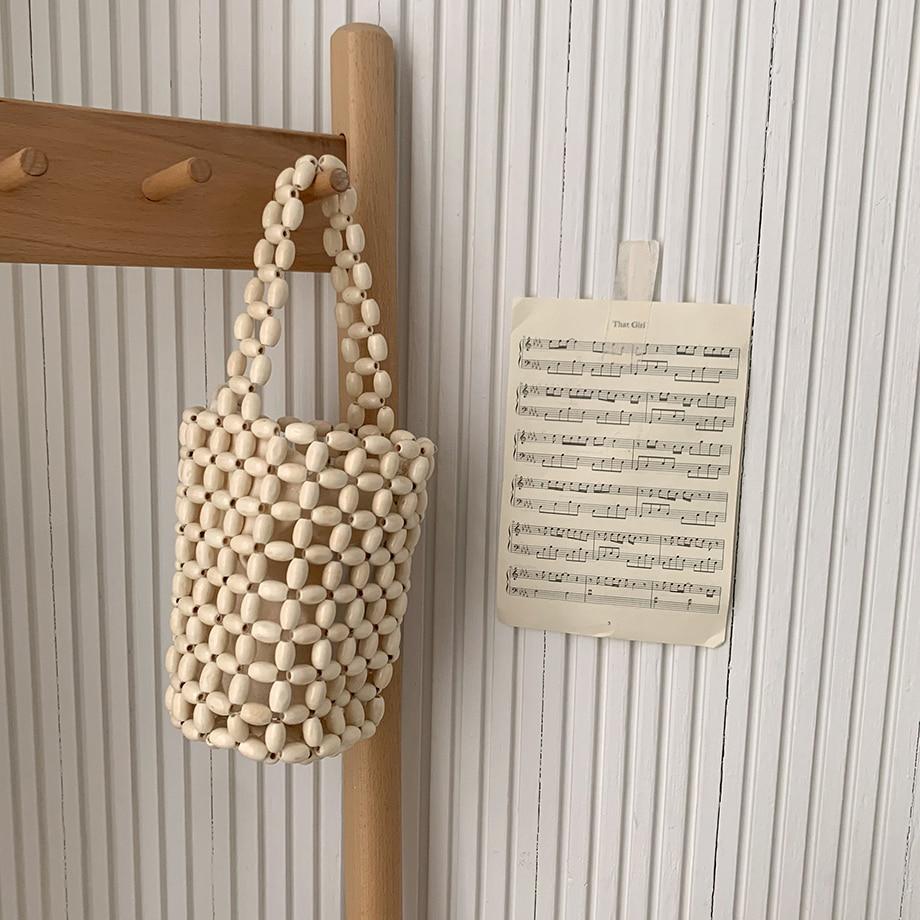 Voluby Wood Bead Bag