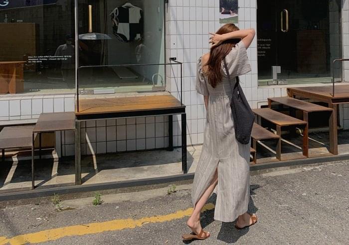 Bring Linen Square Dress