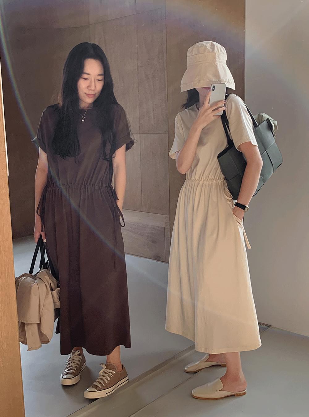 PBP drawstring cotton Dress