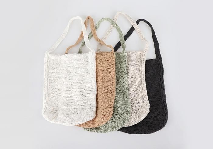 Social Cotton Knitwear Shoulder Bag