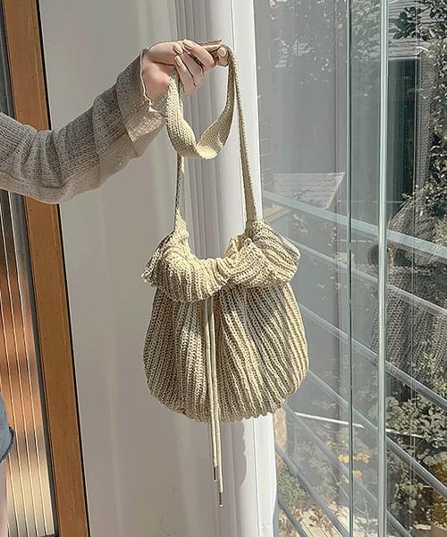 Carrie Leon Linen Bokjory Knitwear Shoulder Bag Bag