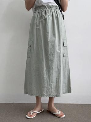 Anorak Cargo String Long Skirt