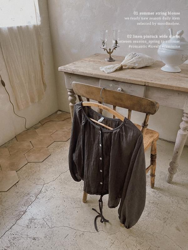 Corinne string blouse