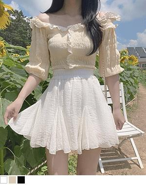 Anvi ruffle off-the-shoulder blouse