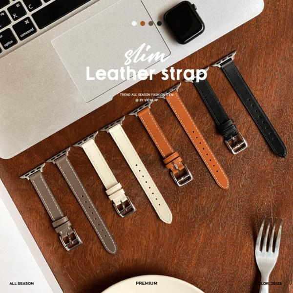 Slim Apple Watch Cowhide Leather Strap Band 4color