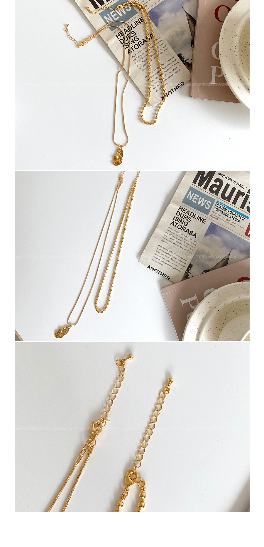 Luxury Layered Necklace 2 Row Set Product :D