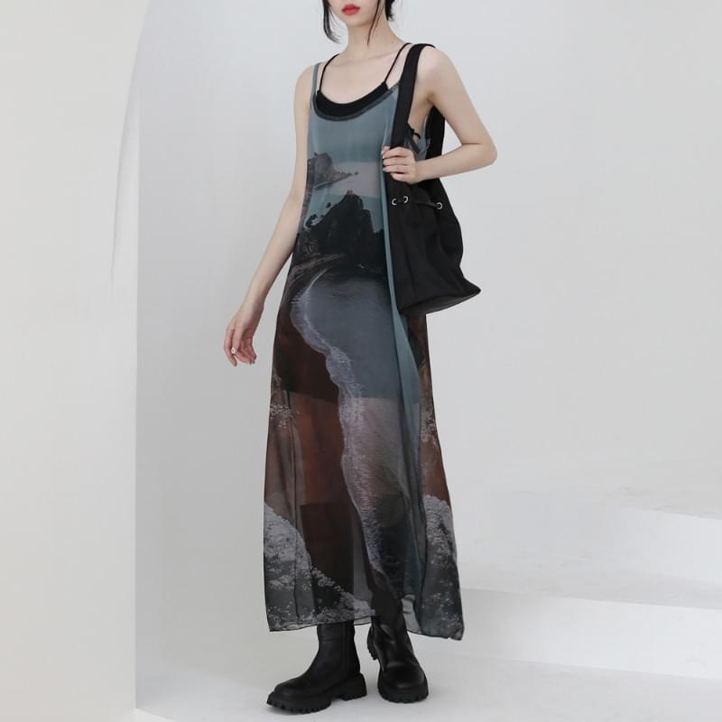 Debussy Layered Long Dress