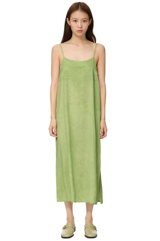 sand sleeveless long dress