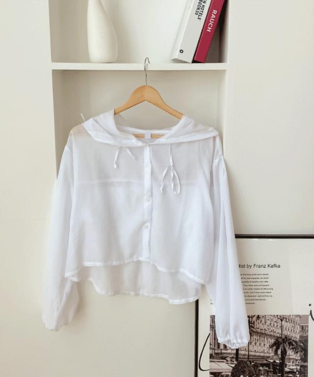 Big Size 55-99 Tori See-through Summer Hooded Shirt
