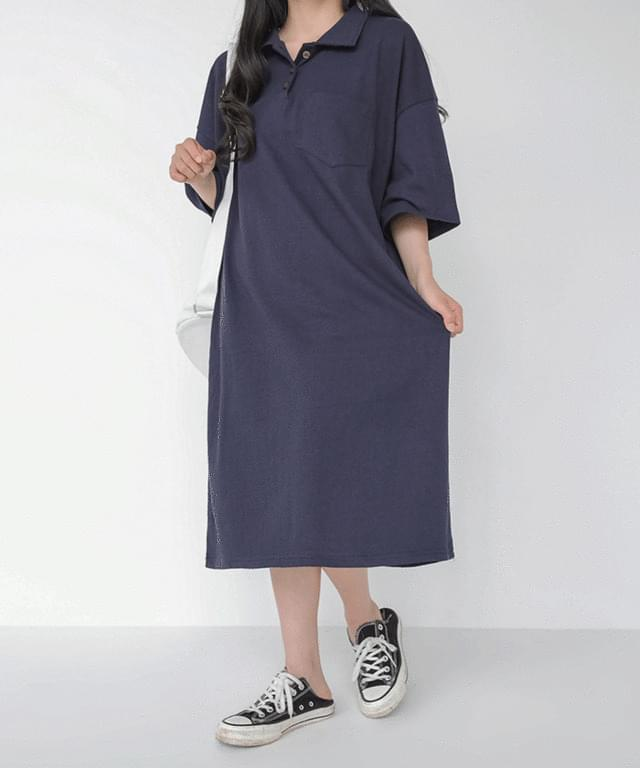 Big Size 55-99 Jane Pique Midi Dress