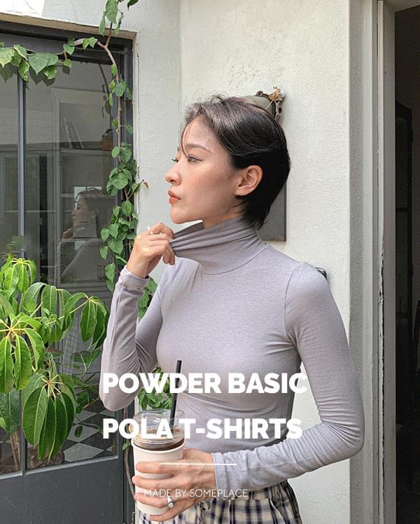 #made some basic Turtleneck T-shirt Powder