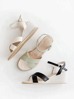Summer Wedge Strap Sandals 6cm