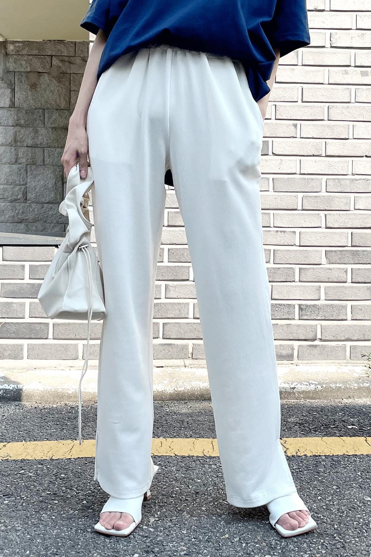 Side slit golgi banding Pants