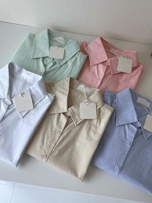 Jennie Cotton Over Fit Short Sleeve Shirt Shirt