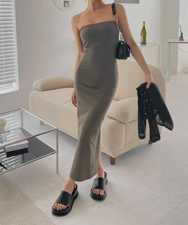 Howard tube top long Dress