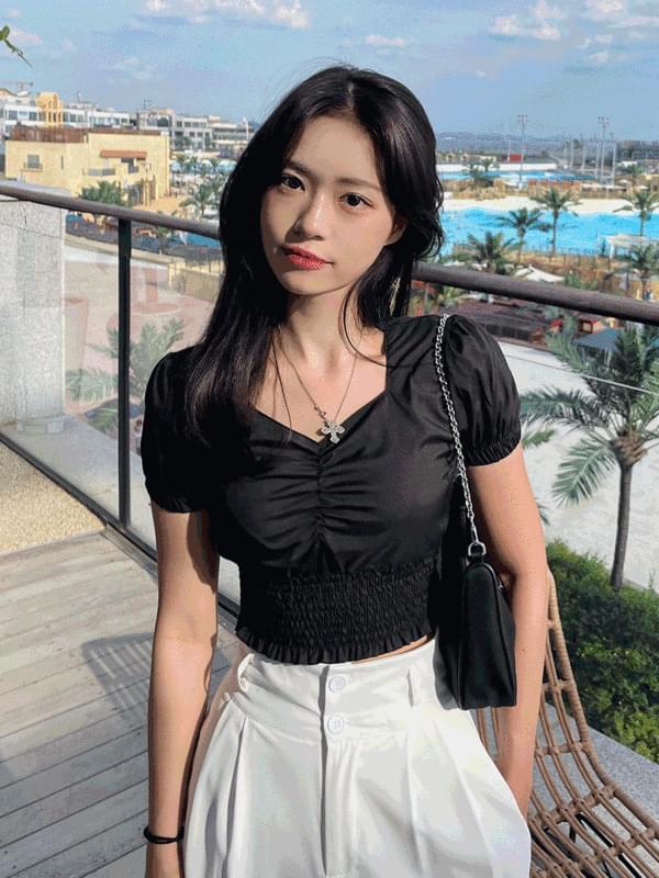 Mimi shirring blouse