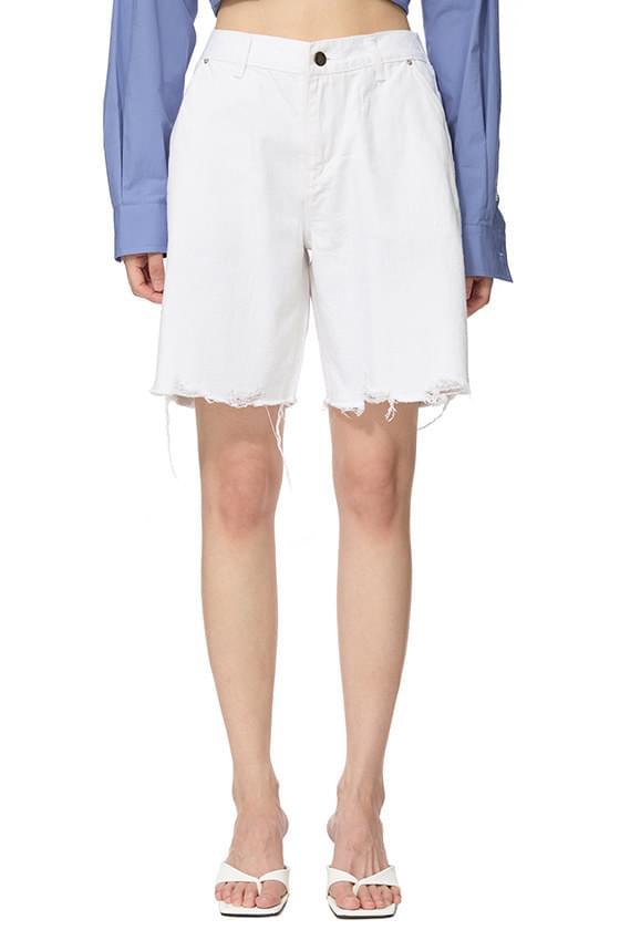 Four Seasons White Denim Shorts