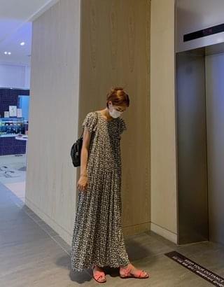 Bianca flower shirring Dress
