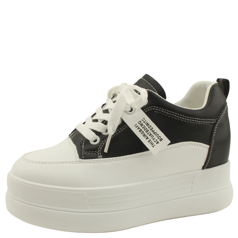 tall high heel sneakers 8cm black