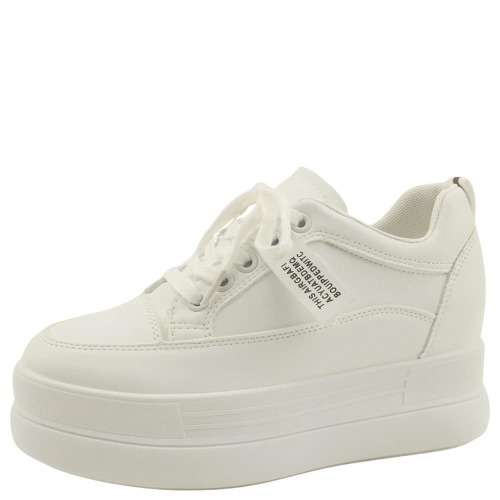 tall high heel sneakers 8cm white