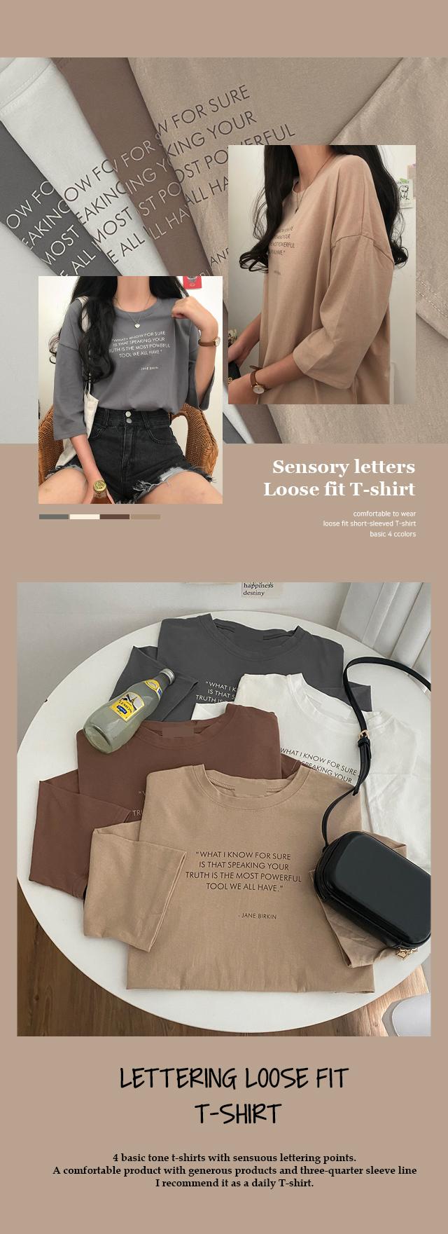 Birkin Lettering Part 7 Loose-fit T-shirt