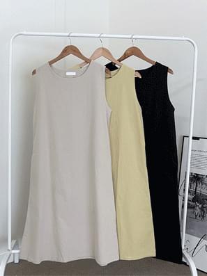 Leaf Cotton Long Dress