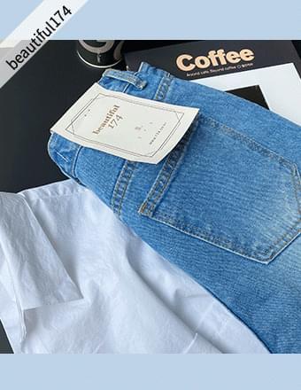 Beautiful Jeans vol.194* Frayed Denim Wide Pants