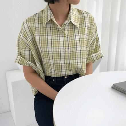 benzy cropped check shirt
