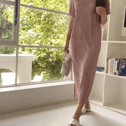 Ailee pleated long Dress