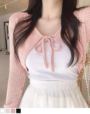 booby bolero cropped short cardigan