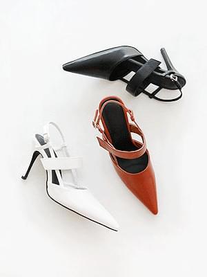Edgeline Stiletto Slingback High Heels 9cm