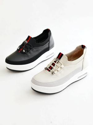 Jjjjjjjjjjjjjjjjjjjj leather air height sneakers 6cm