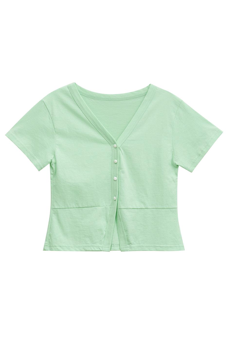V cut cotton cardigan