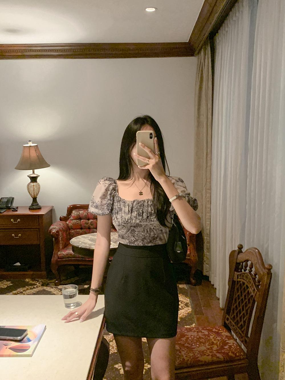 포니아나염오프 blouse