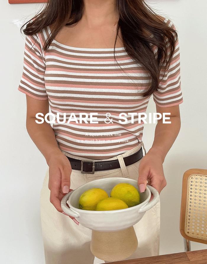 Apple Square Striped Knitwear