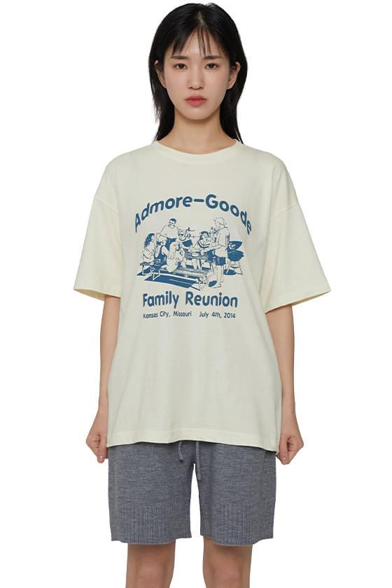 Family printed short sleeve T-shirt