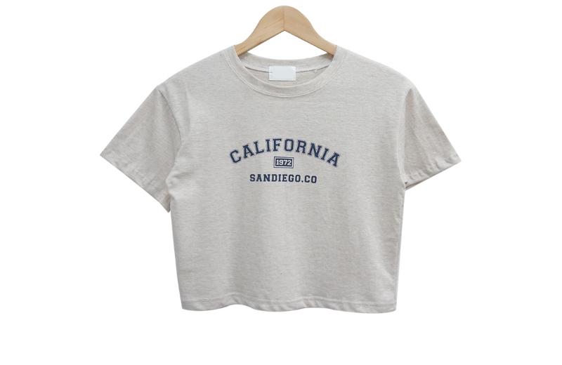San Diego Crop Lettering Short Sleeve Tee