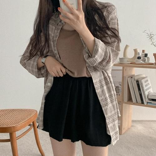 Michelle check shirt recommended for the season