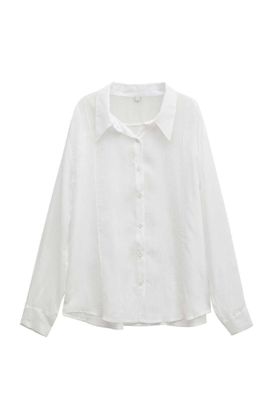 cylinder silky pintuck shirt