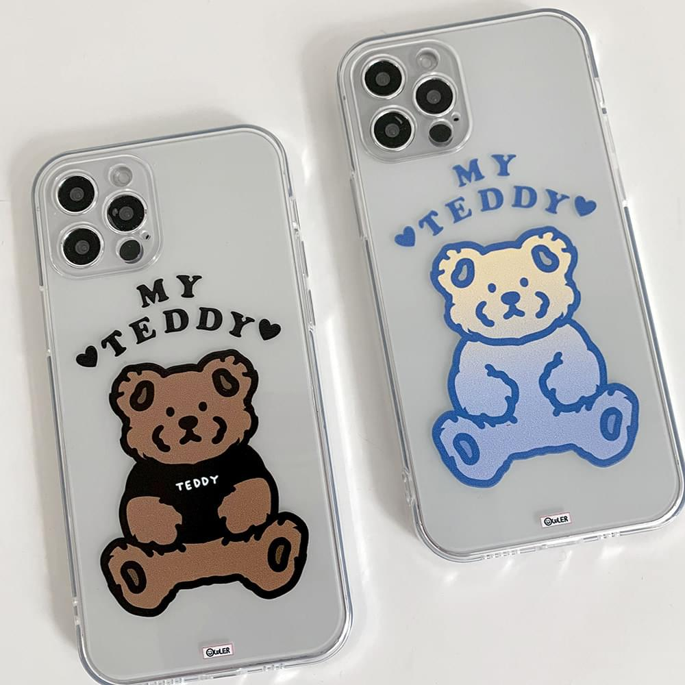 My Teddy Arch Lettering Transparent Jelly iPhone Case