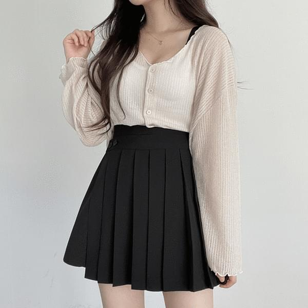 poing cropped cardigan